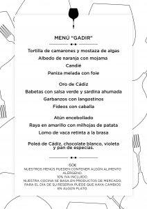 Menú degustación Cádiz